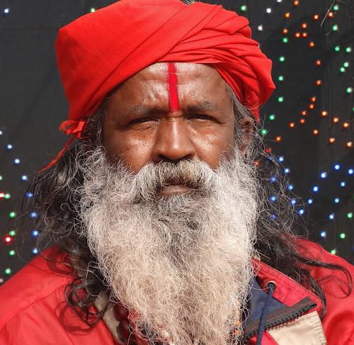The saint in Red... by Gautam Tarafder - People Portraits of Men (  )