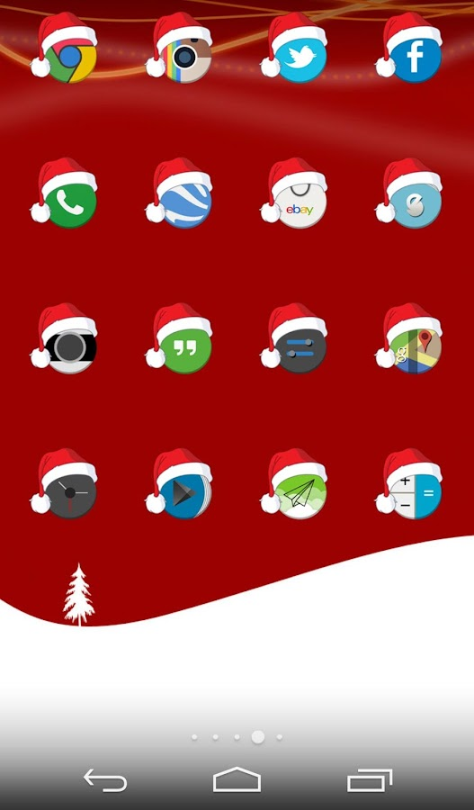Xmas Cyrcle Icons Apex Nova- screenshot