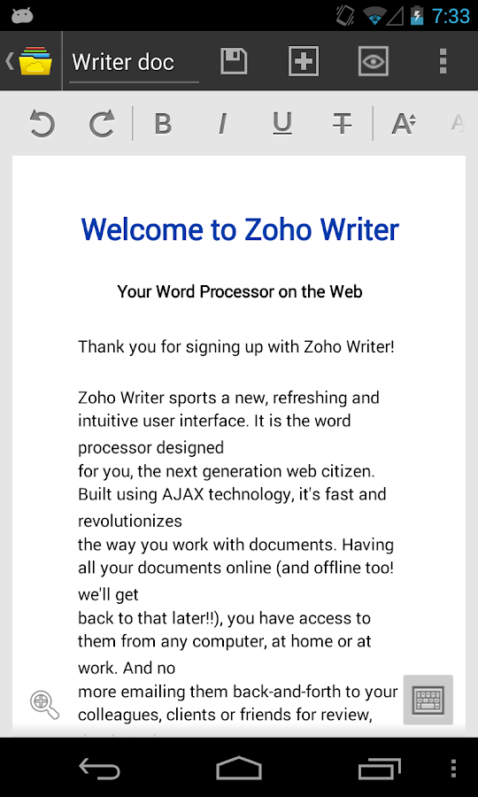 Zoho Docs - screenshot
