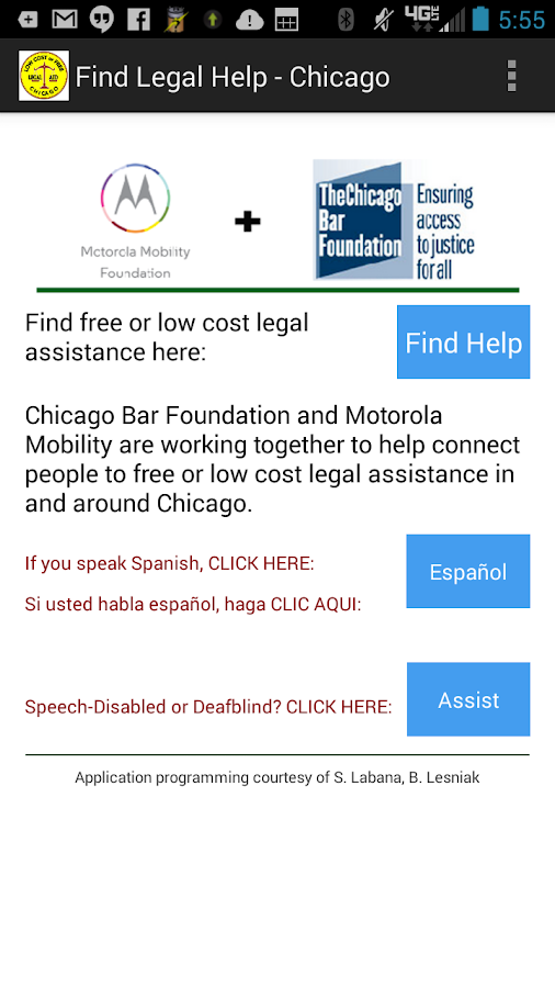Find Legal Help - Chicago- screenshot
