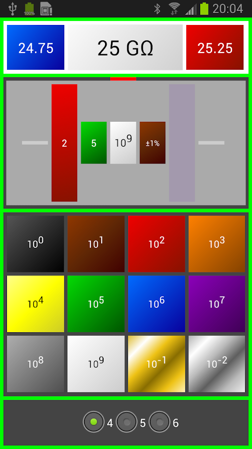 resistor color code ohm calcul android apps on play