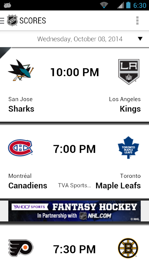 NHL - screenshot