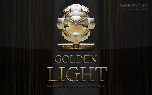 clock widget Golden Light
