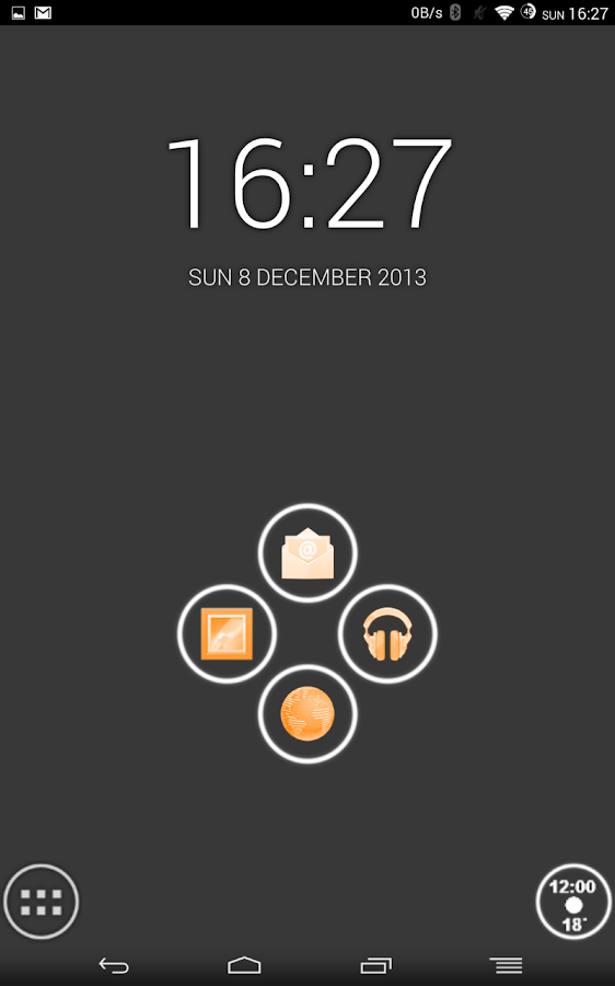 White and Orange Theme - screenshot