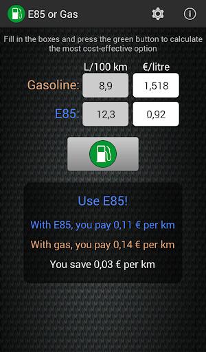 【免費交通運輸App】E85 or Gas Free-APP點子