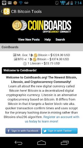 Screenshots for CB Bitcoin Tools