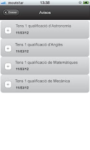 UB Avisos de qualificacions - screenshot thumbnail
