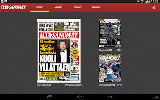 Screenshot of Ilta-Sanomat – Päivän lehti