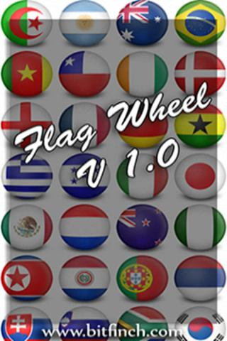 Flag Wheel Quiz - screenshot