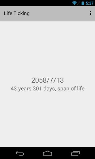 Life Ticking