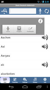 Italian - German Translator Dictionary Basic- screenshot thumbnail