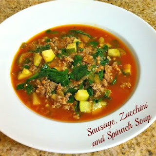 Sausage Zucchini and Spinach Soup.