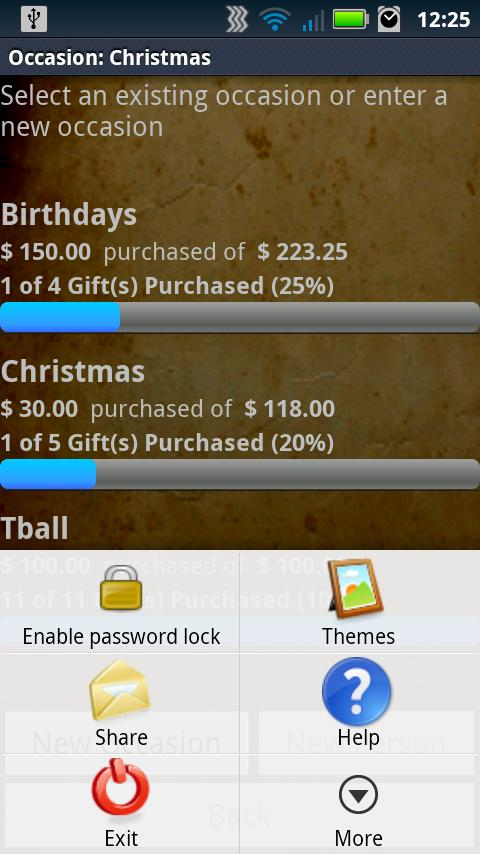 Gift List Manager Pro- screenshot