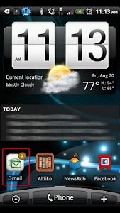 1x1 Ultimate Unread Widget screenshot 0