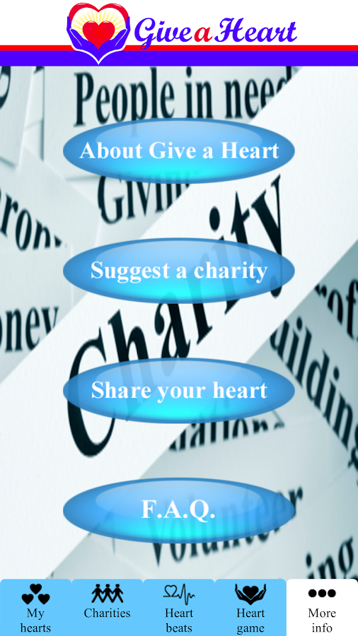 Give a Heart to Charity - screenshot