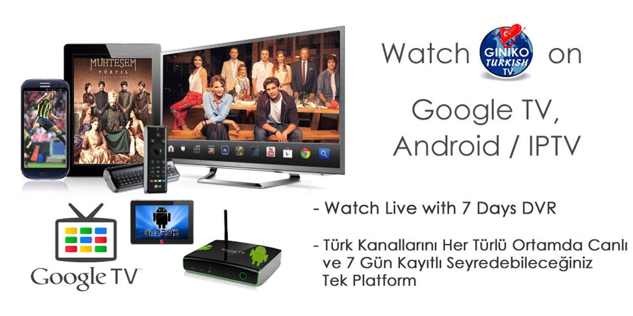 Giniko Turkish TV for GoogleTV- screenshot