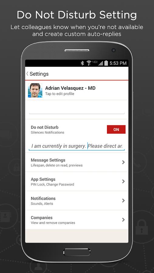 TigerText Secure Messenger App- screenshot