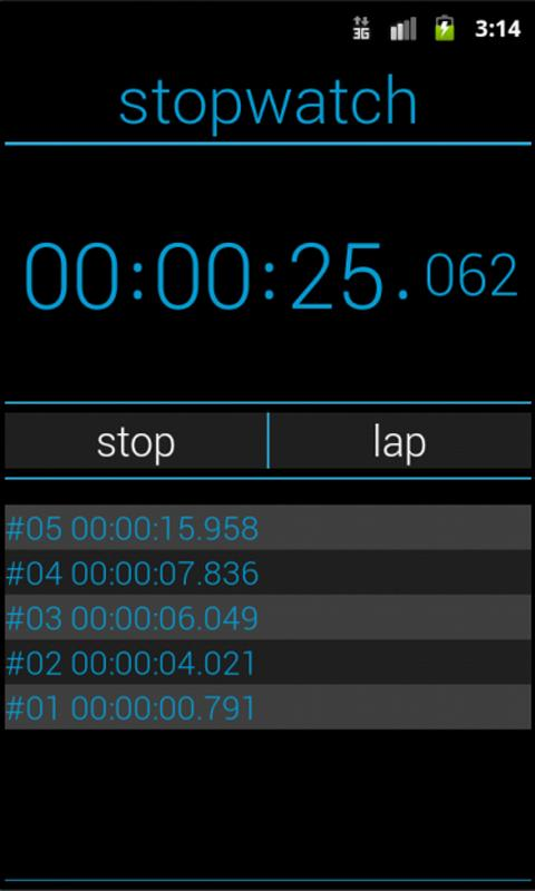 ICS Stopwatch - screenshot