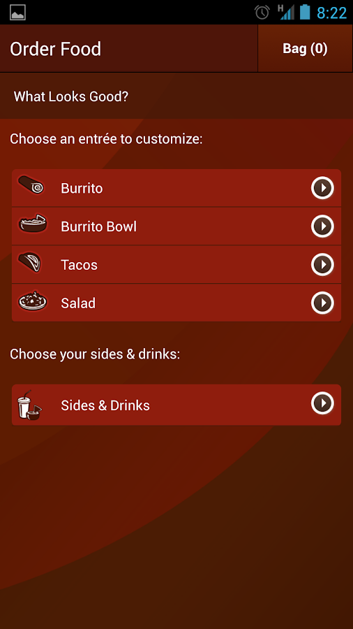 Chipotle Mobile Ordering - screenshot