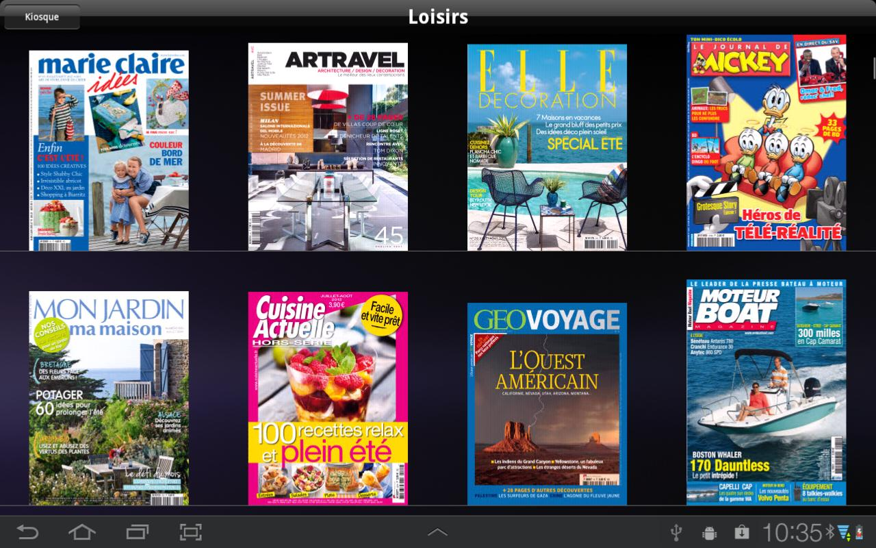 lekiosk: newsstand magazines - screenshot