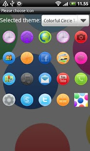 Colorful Circle GO Launcher EX- screenshot thumbnail