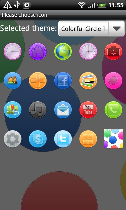 Colorful Circle GO Launcher EX- screenshot
