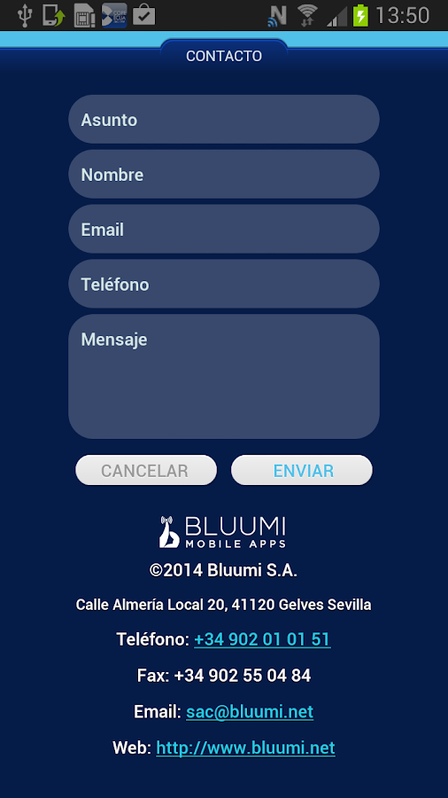 Bluumi- screenshot