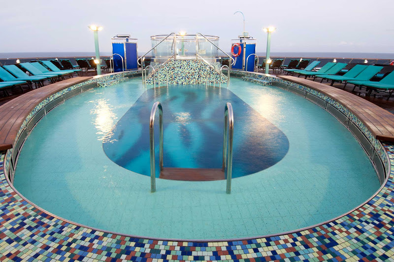 The Serenity area, an adults-only retreat on Carnival Pride, has its own pool, spa and bar.