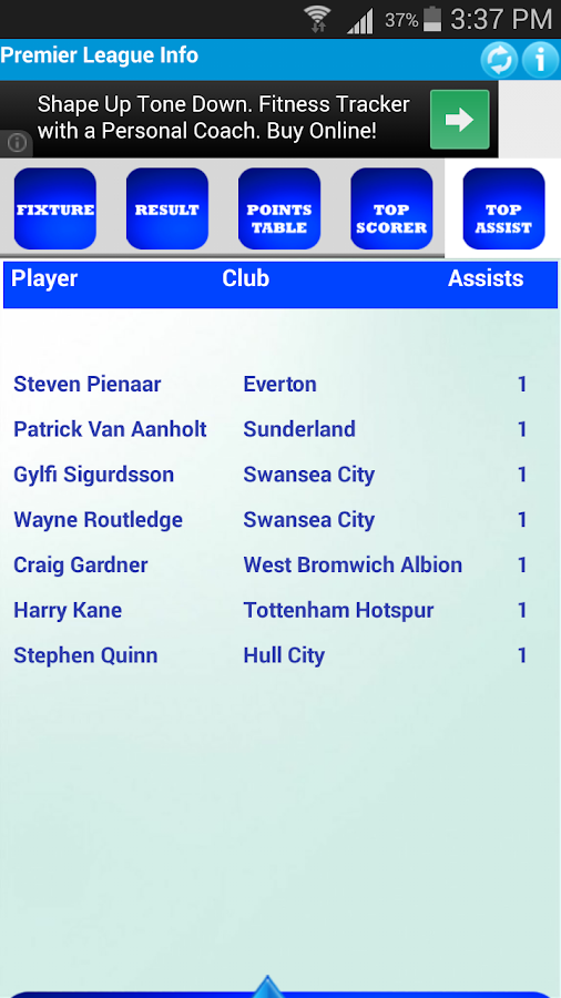 Premier League Info- screenshot