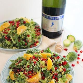 Brussels Sprout Winter Salad with Lemon Champagne Vinaigrette.