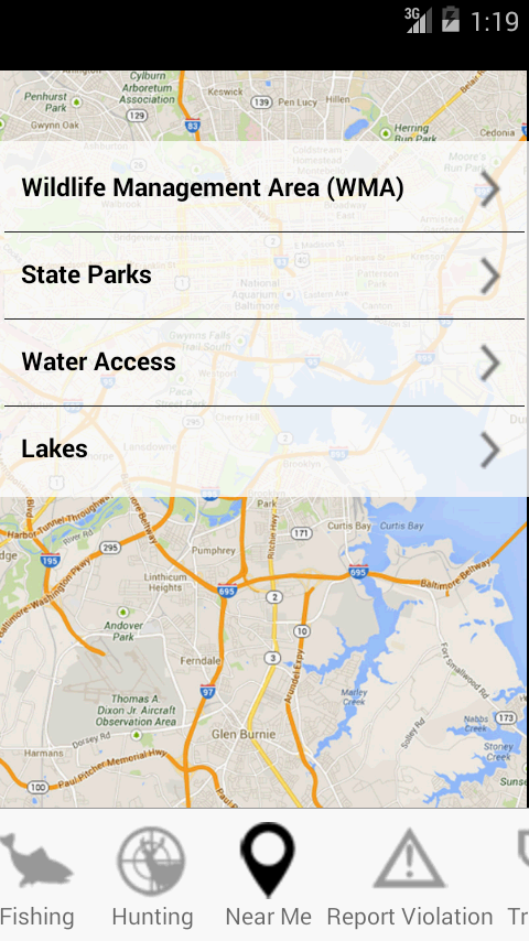 Maryland access dnr android apps on google play for Dnr fishing report md