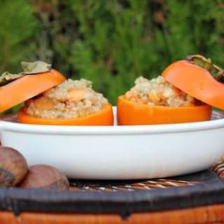 Oven Roasted Stuffed Persimmons (Vegan + Gluten Free).