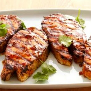 Griddled Salmon Steak with Hoisin BBQ Sauce Recipe