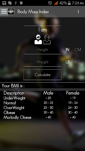fitness calorie calculator