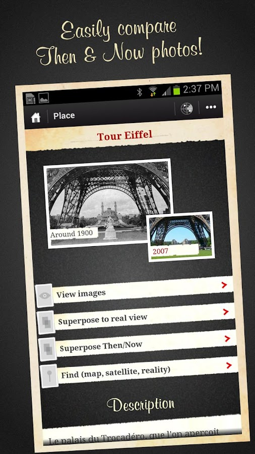 Paris, Then and Now Guide FREE- screenshot
