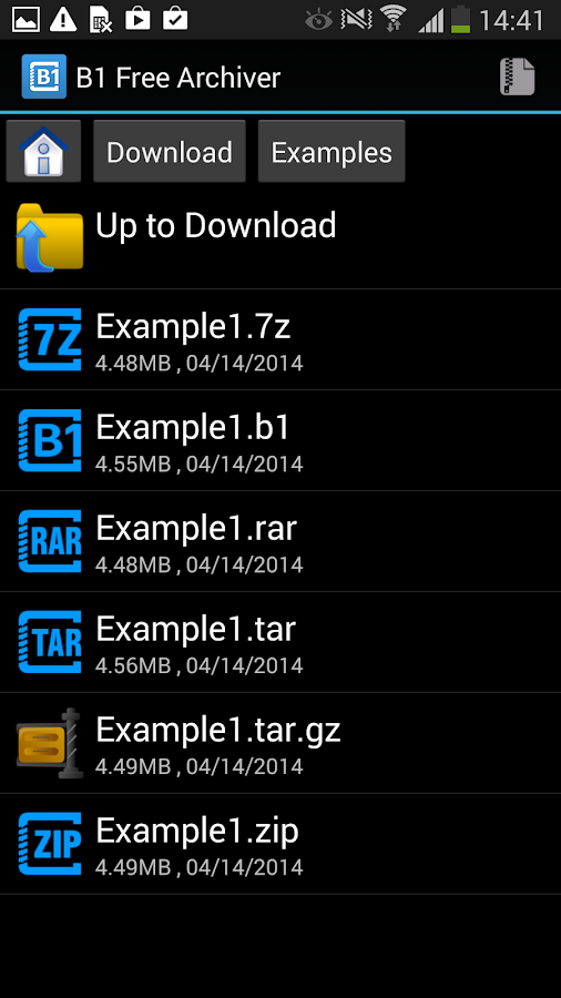 B1 Free Archiver zip rar unzip - screenshot