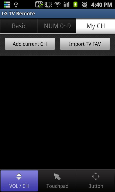 LG TV Remote 2011 - screenshot
