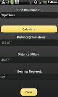Screenshot of Distance & Bearing Calculator