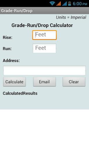 Grade-RunDrop Calculator