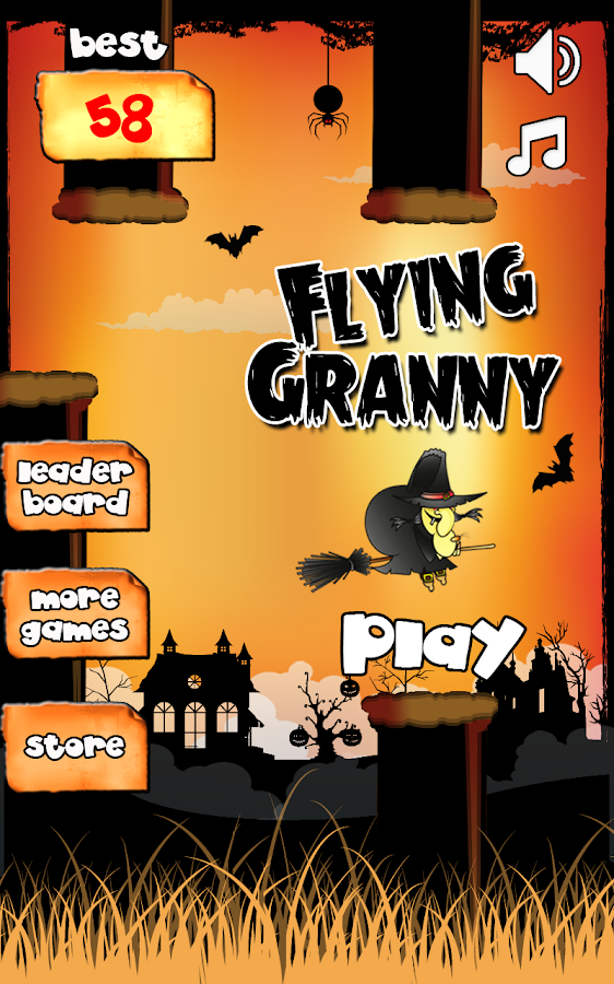 Flying Granny - screenshot