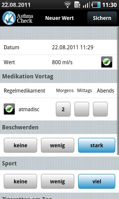 AsthmaCheck - screenshot