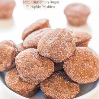 Mini Cinnamon Sugar Pumpkin Muffins.