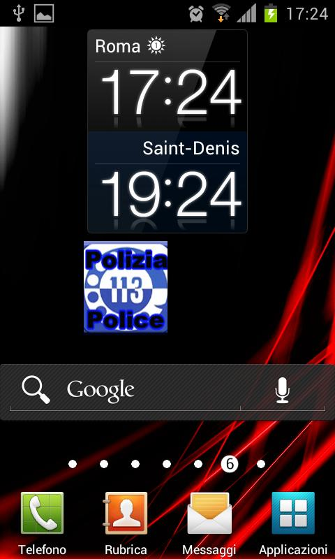 Police Call Widget Italy - screenshot