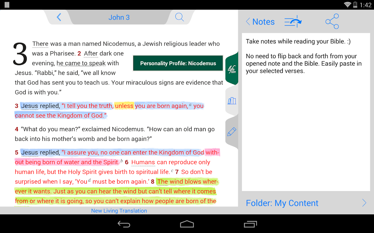 Life Application Study Bible - screenshot
