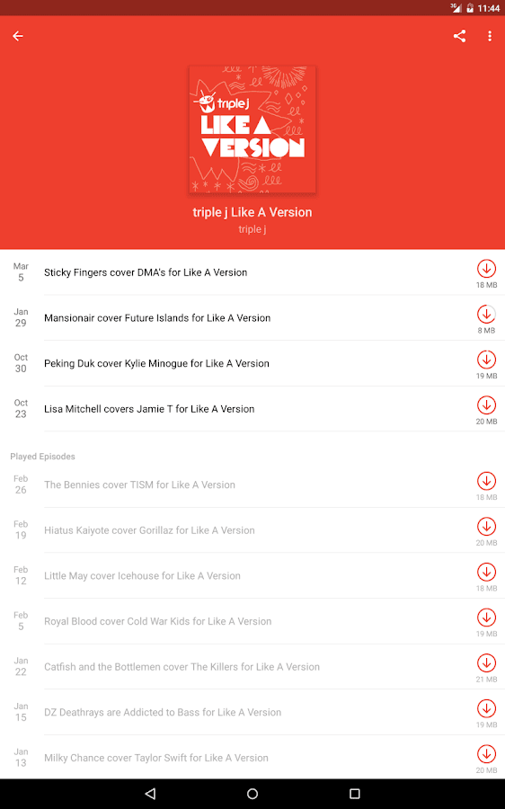 Pocket Casts: captura de tela