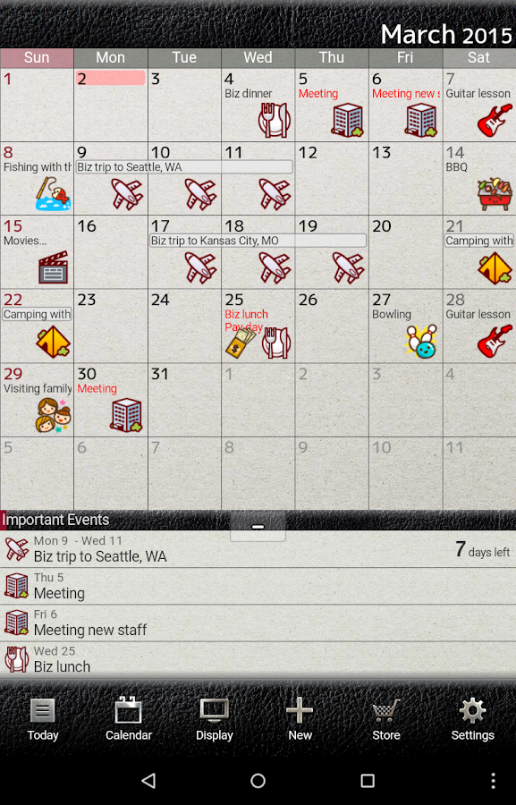 Best Calendar Organization App : Jorte calendar organizer android apps on google play