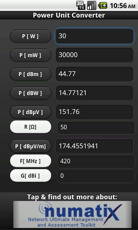 Power Unit Converter- screenshot