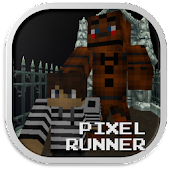 Pixel Runner - Black City Bear