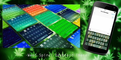 Weed Spiral Keyboard Theme