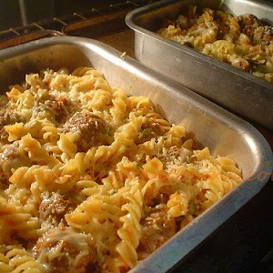 Pasta and Meatball Bake
